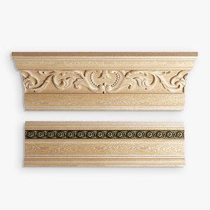 free cornice baseboard 3d model