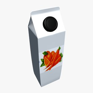 3d juice carton