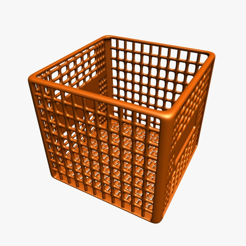 3d model milk crate container
