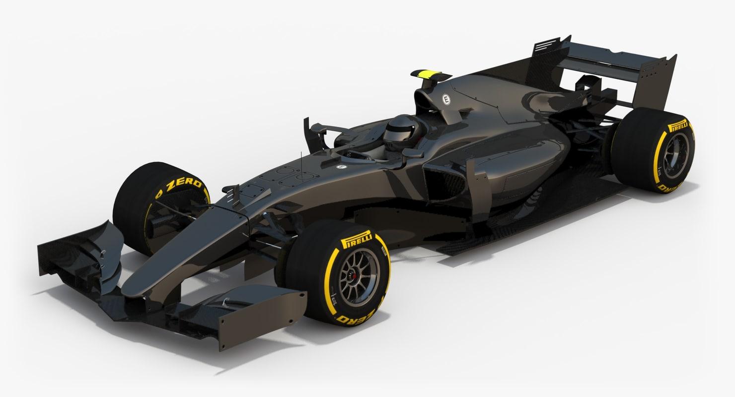 3d model of formula 1 concept car