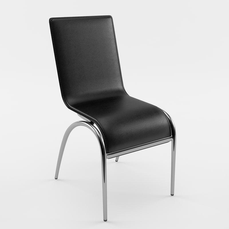 3ds elaine black chair