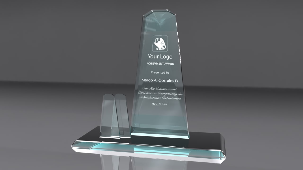 award glass 3d obj