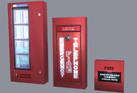Fire Alarm Collection Low Poly Game Ready