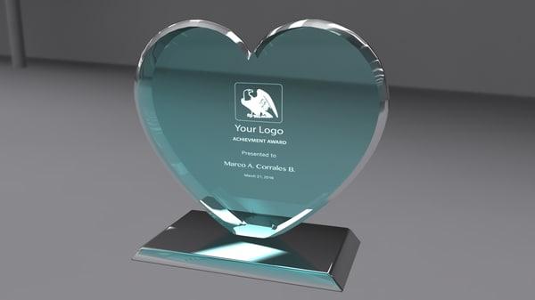 3d award glass model
