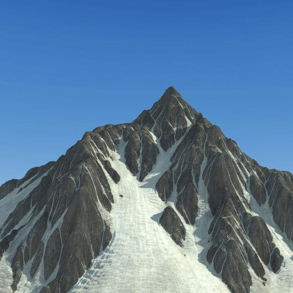 mountain terrain landscape snow 3d max