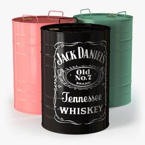 barrel 50 litres 3d c4d