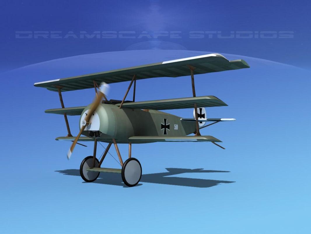 3d plane triplane fokker