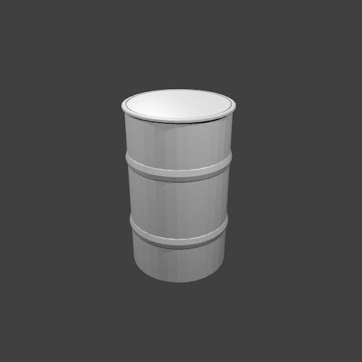 3d model simple metal drum