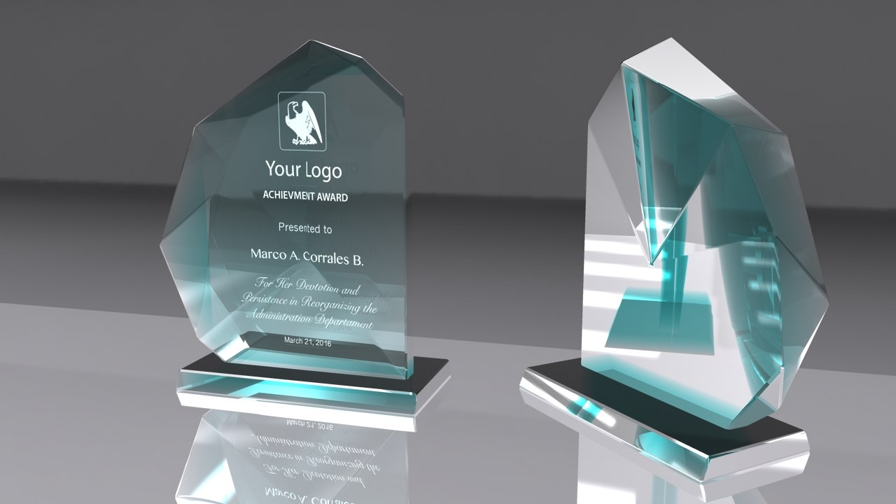 award glass obj