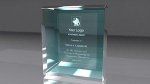 x award glass