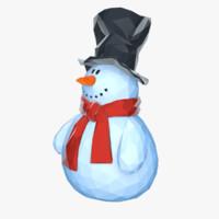 stylized snowman max