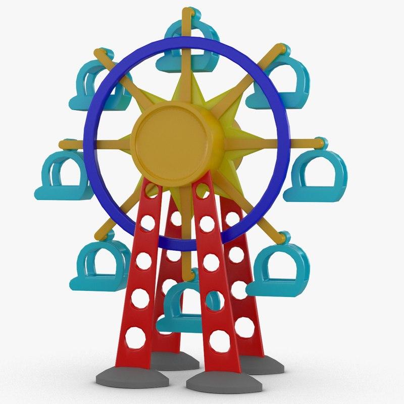 3d tolo toy ferris wheel model