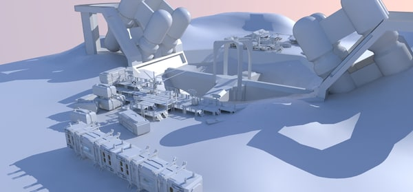 3d mining scene