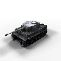 3d model tiger tank polys