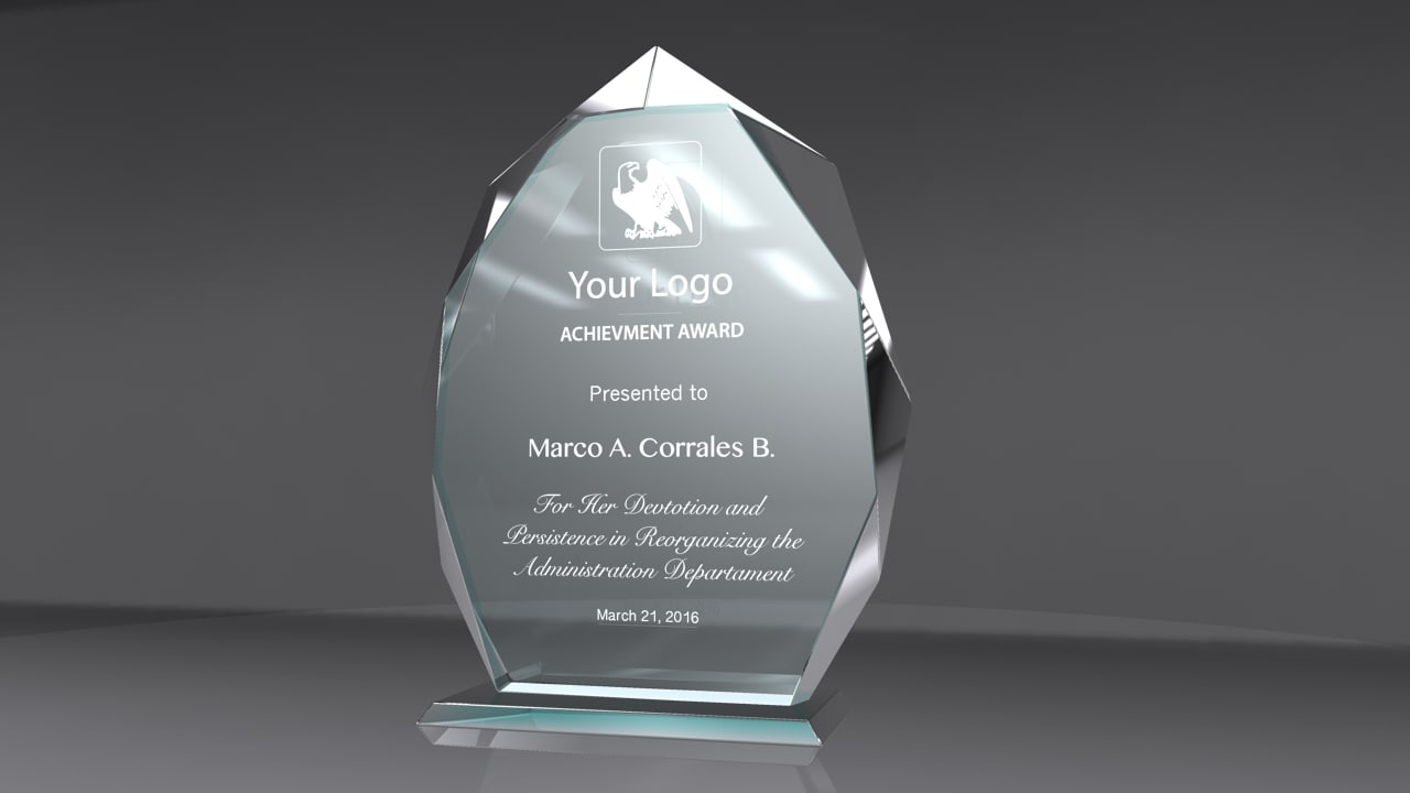 3d award glass model