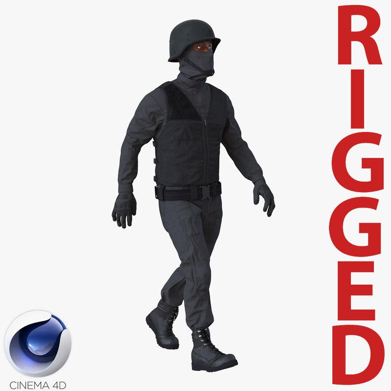 c4d suit rigged