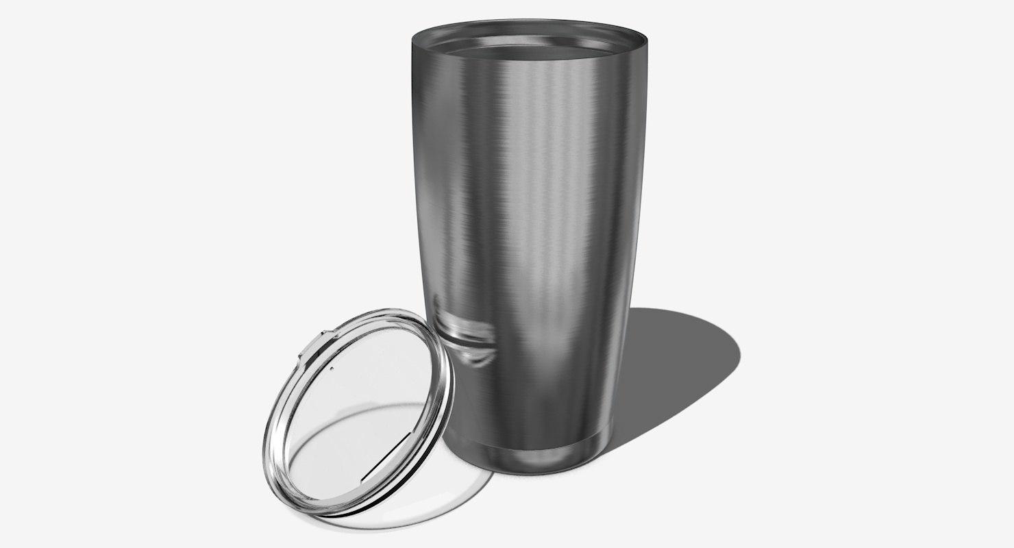3d insulated steel travel mug