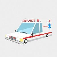 3d model ambulance car