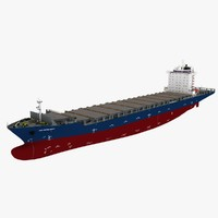 3d model container ship hs debussy