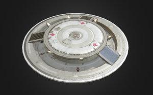 3d model of sci-fi pbr