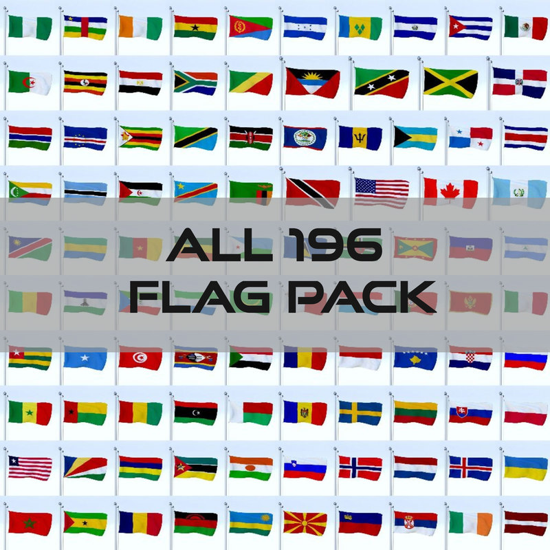3d pack flags 196