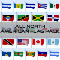 3d pack flags north american