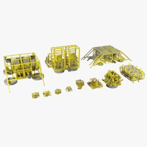3d model subsea oil gas 2