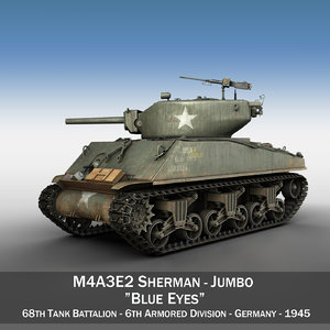 m4a3e2 sherman - ank 3d model