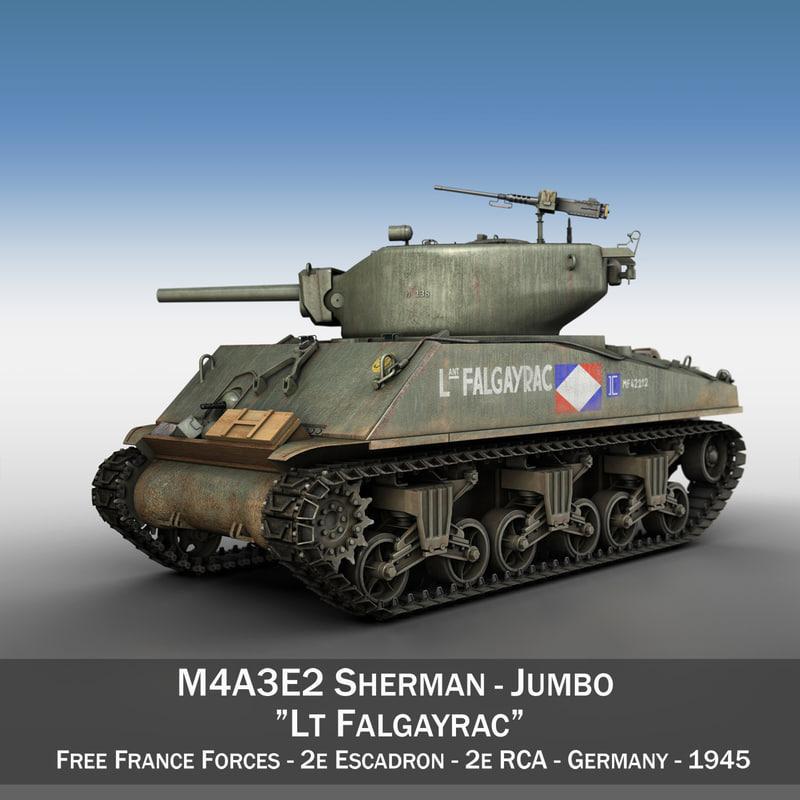 m4a3e2 sherman - lt 3d model