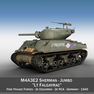 m4a3e2 sherman - lt 3d model
