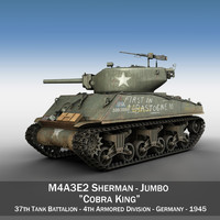 3d m4a3e2 sherman tank -