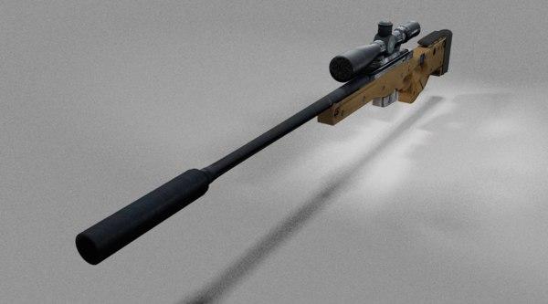 3d l115a3 long range rifle model