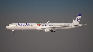 3d iran air 777 9x model