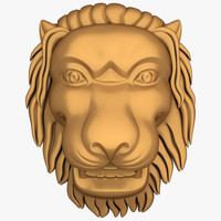 jana lion head 3d model
