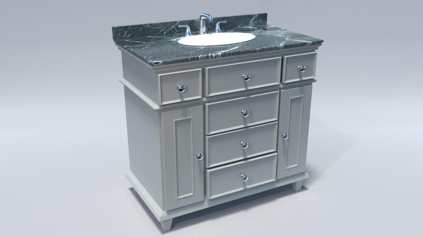 3d fbx bathroom vanity