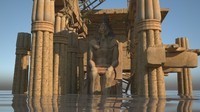 3d model building house tomb pharaoh