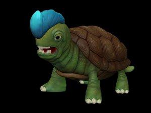 turtle miniature 3d model