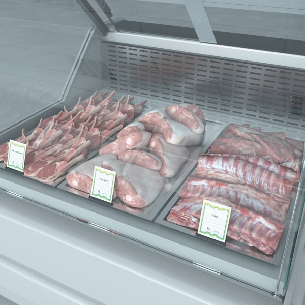 custom refrigerated showcase meat 3d max
