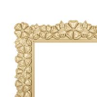 Carved flowers frame