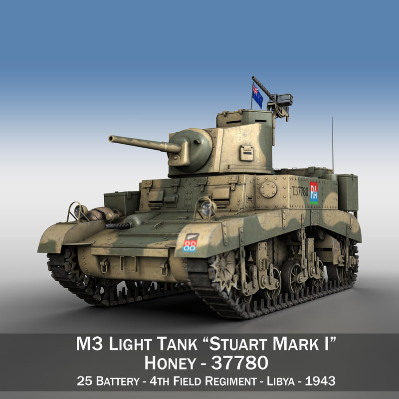 3ds british - m3 light tank