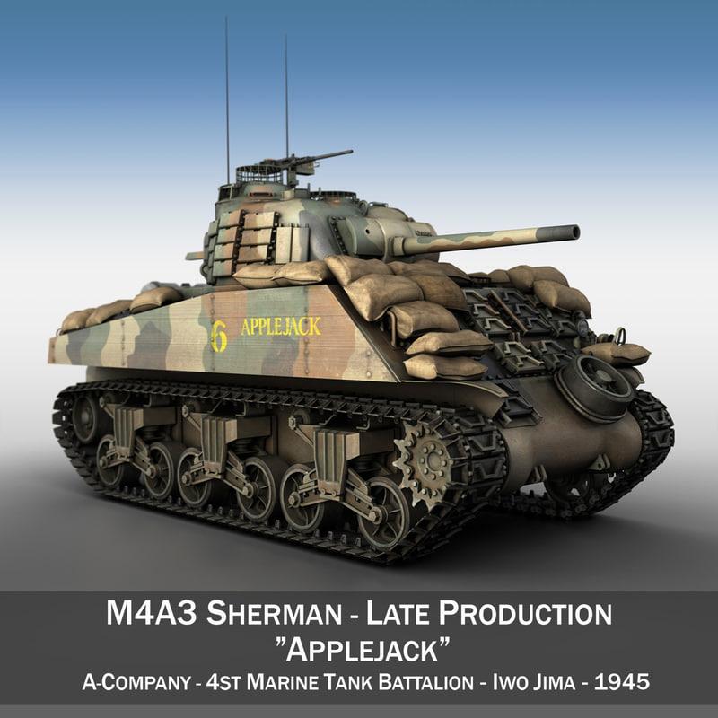m4a3 sherman - tank 3ds