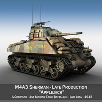 m4a3 sherman - tank 3ds