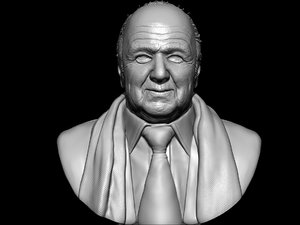 3ds old man statue