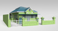 3ds caribbean house