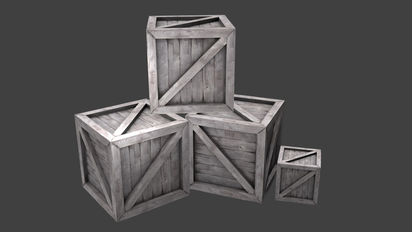 blend wood crate