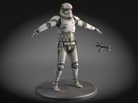 3d model dirty storm trooper