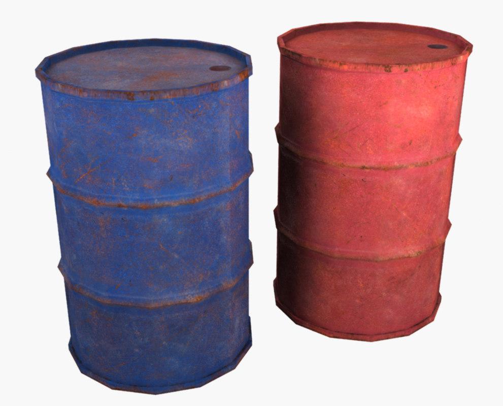 old barrel obj