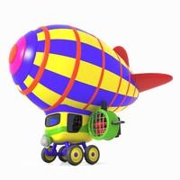 airship toon air obj