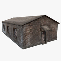 Old Garage W\Interior PBR Low Poly