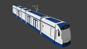 gvb tram amsterdam 3d model